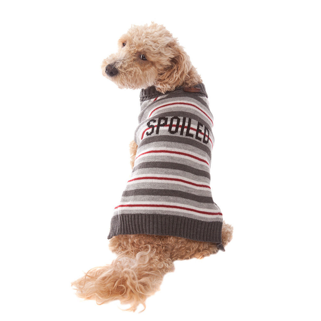 View larger image of Pet Posse, Stripe Sweater Spoiled - Grey