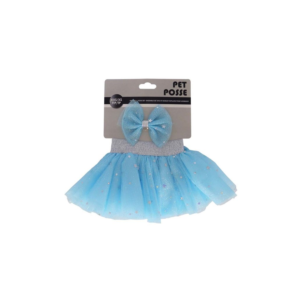 View larger image of Tutu & Bow Set - Silver/Blue