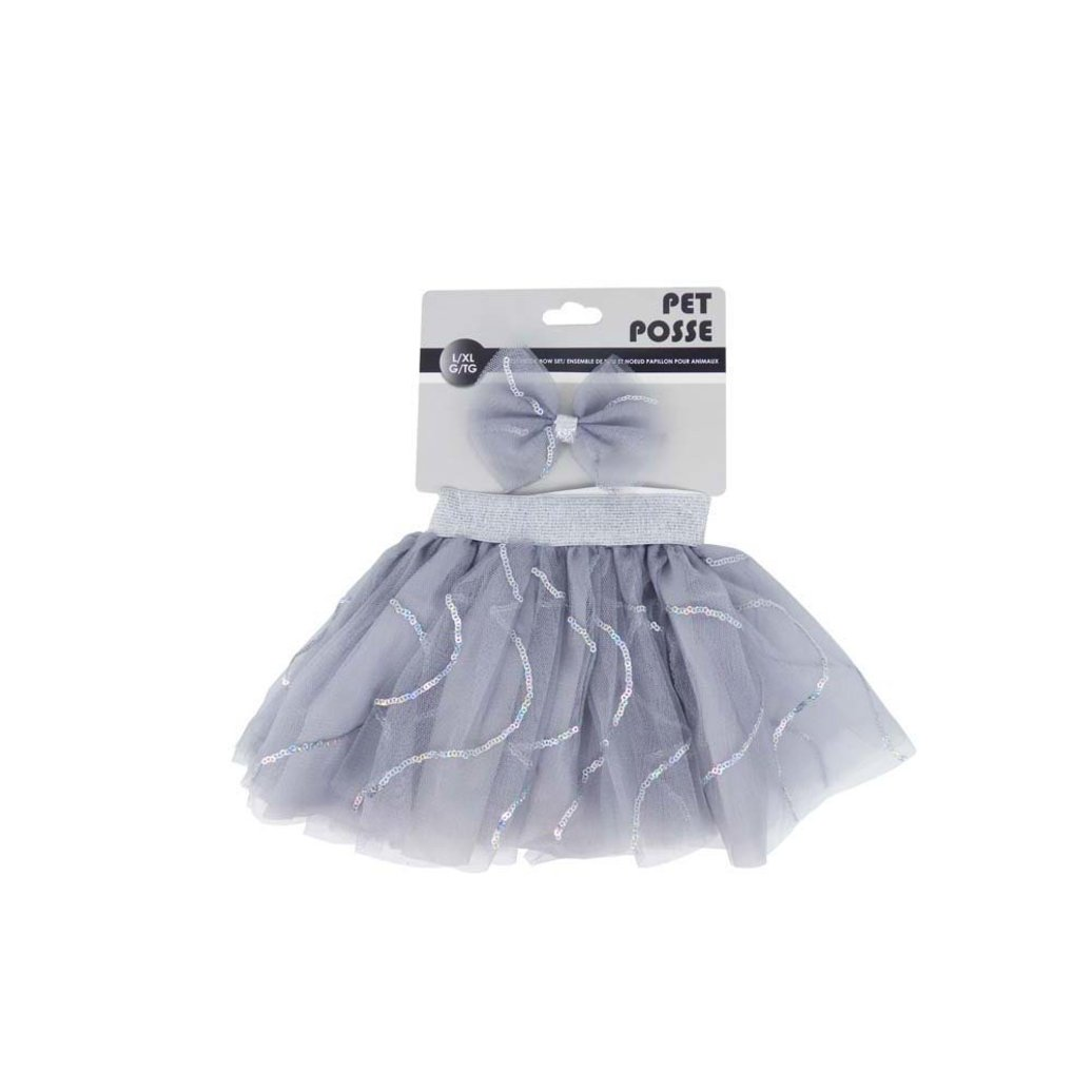 View larger image of Tutu & Bow Set - Silver