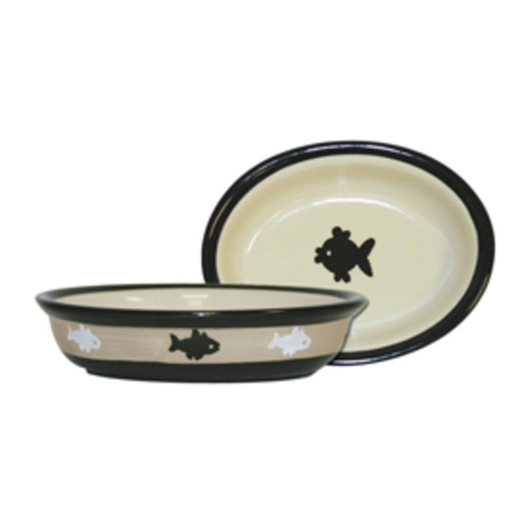 View larger image of City Pets Oval Bowl With Fish - 1 Cp
