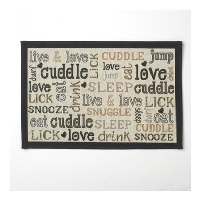 Cuddle Placemat Natural - Black