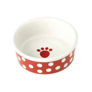 Dog Bowl, Poppy Dot - Red - 1.5 Cp