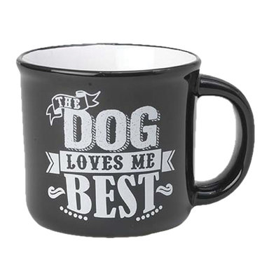 Dog Mug - Black - 16 oz