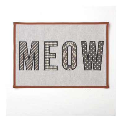Meow Placemat Natural