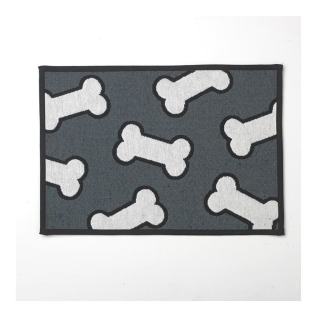 View larger image of Scat Bones Placemat - Grey White