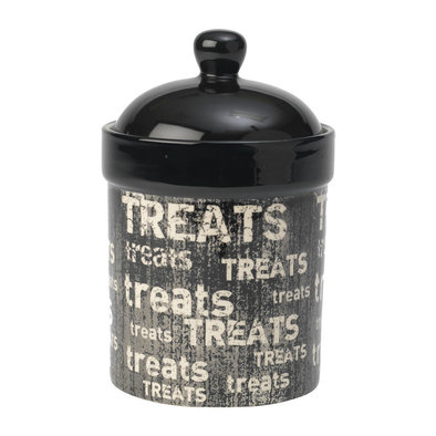 Vintage Treat Jar - Black - 9""