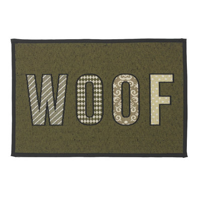 Woof Placemat - Olive Black