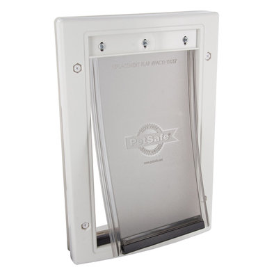 Plastic Pet Door - White