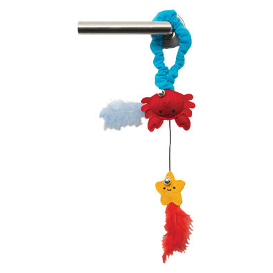 Catit Play , Pirates Door Hanger - Crab and Star - Red