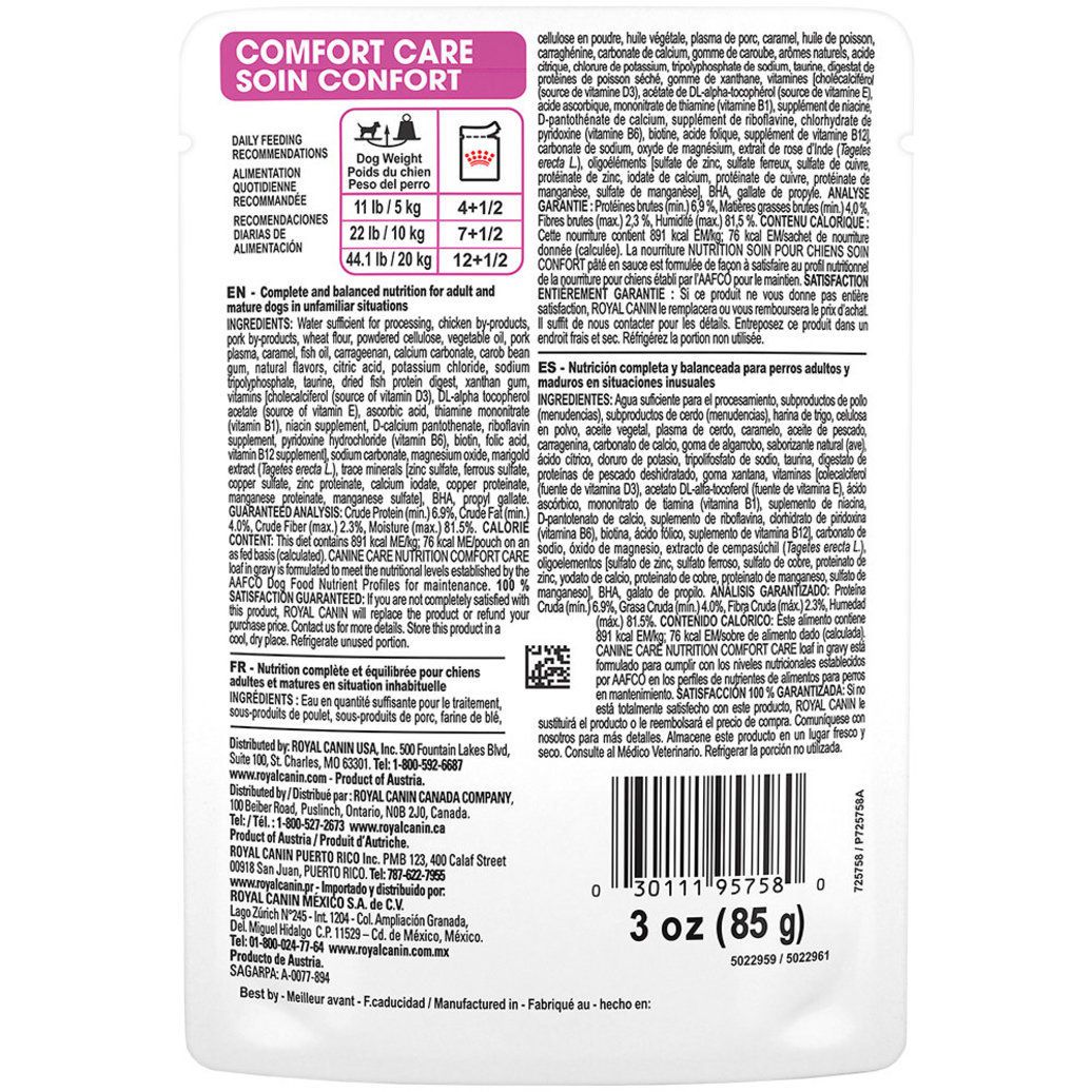View larger image of Canine Care Nutrition Adult Comfort Care Pouch - 85 g