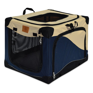 Great Crate, Soft Side Crate, 2000 - Navy/Tan - 24x18x17""