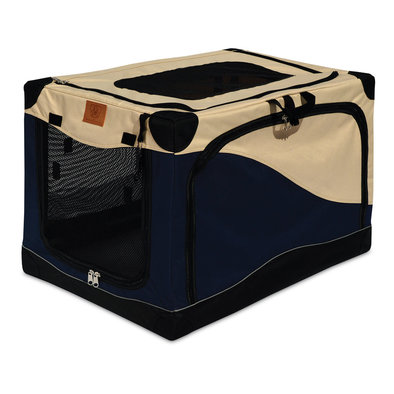 Great Crate, Soft Side Crate, 3000 - Navy/Tan - 30x20x19""