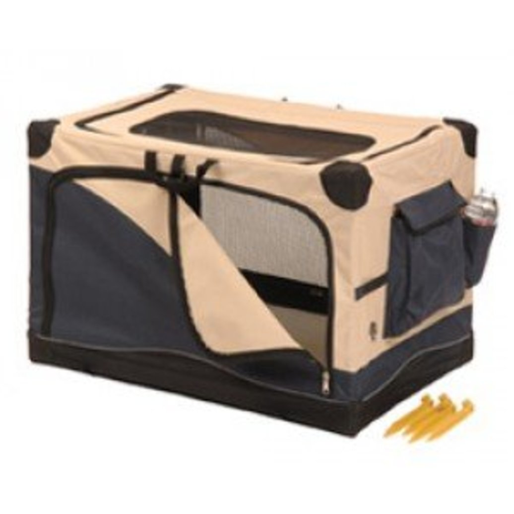 View larger image of Great Crate, Soft Side Crate, 4000 - Navy/Tan - 36x24x23""