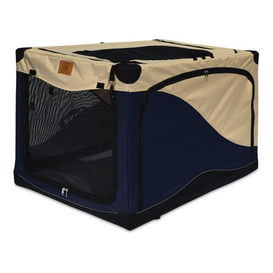 Great Crate, Soft Side Crate, 5000 - Navy/Tan - 42x28x27""