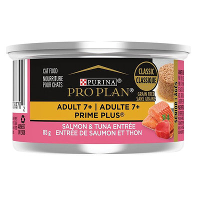 Prime Plus Adult 7+ Wet Cat Food, Salmon & Tuna Entrée 85 g