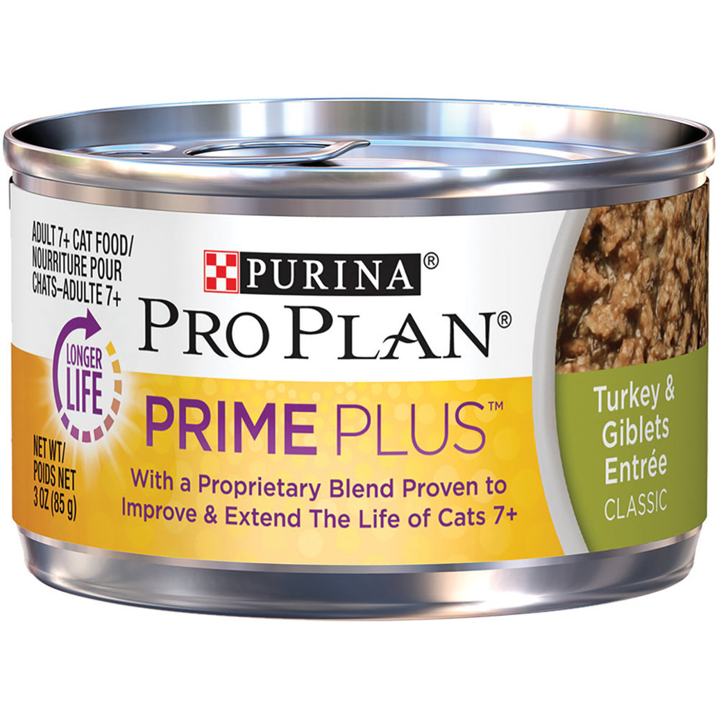 View larger image of Prime Plus Adult 7+ Wet Cat Food, Turkey & Giblets 85 g