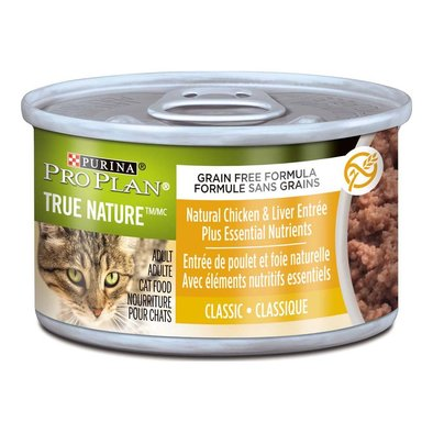 True Nature Adult Wet Cat Food, Chicken & Liver Entree Classic 85 g