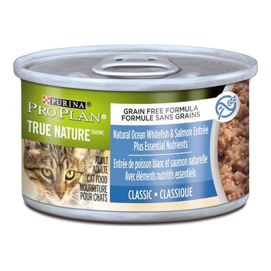True Nature Adult Wet Cat Food, Ocean Whitefish & Salmon Entree 85 g
