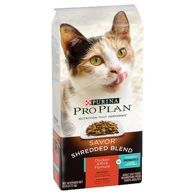 Savor Shredded Blend Adult Dry Cat Food, Chicken & Rice Formula 2.72 kg