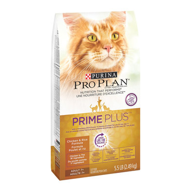 Prime Plus Adult 7+ Dry Cat Food, Chicken & Rice Formula 2.49 kg