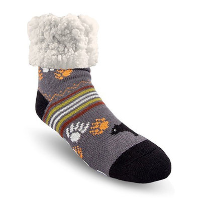 Slipper Socks - Bear - Grey