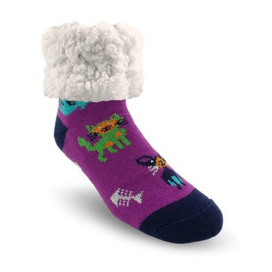 Slipper Socks - Cat MultiColour