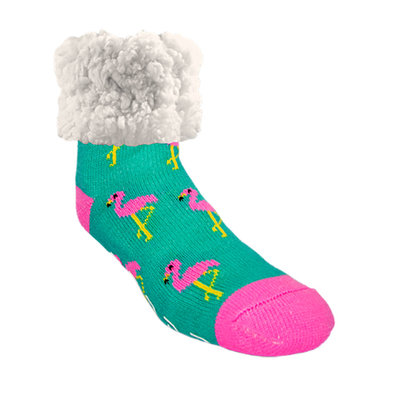 Slipper Socks - Flamingo - Pink