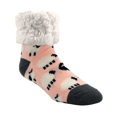 Slipper Socks - Sheep - Blush