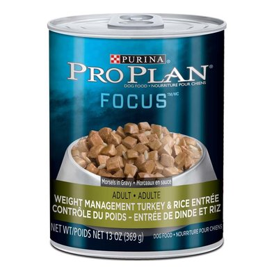 Focus Weight Management Wet Dog Food, Turkey & Rice 369 g