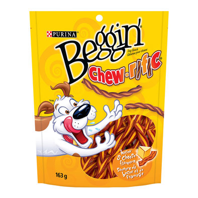 Beggin', Chew-rific Dog Treats, Bacon & Cheese Flavour Snacks - 163 g