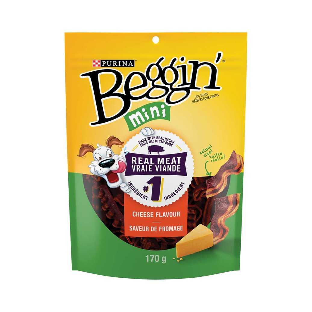 View larger image of Beggin', Mini Dog Treats, Cheese Flavour Snacks - 170 g