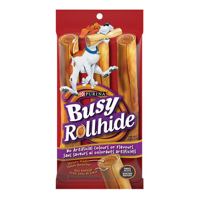 Rollhide Dog Treats for Small & Medium Breed Dogs - 113 g