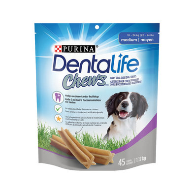 Chews Dental Dog Treats for Medium Breed Dogs - 1.12 kg