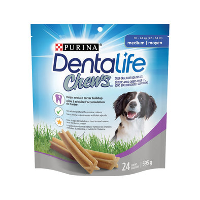 Chews Dental Dog Treats for Medium Breed Dogs - 595 g