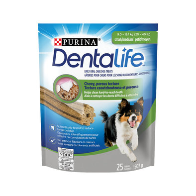 Daily Oral Care Dental Dog Treats for Small & Medium Breed Dogs - 507 g