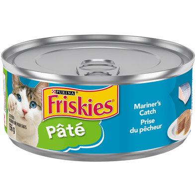 Purina, Friskies Wet Cat Food, Classic Pate Mariner'S Catch Pate - 156 g