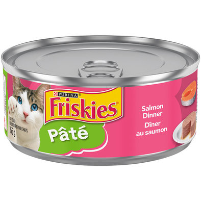 Purina, Friskies Wet Cat Food, Classic Pate Salmon Dinner - 156 g