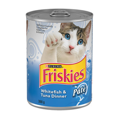 Purina, Friskies Wet Cat Food, Whitefish & Tuna - 380 g