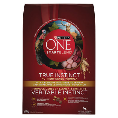 Smartblend True Instinct Natural Dry Dog Food, Turkey & Venison - 6.8 kg