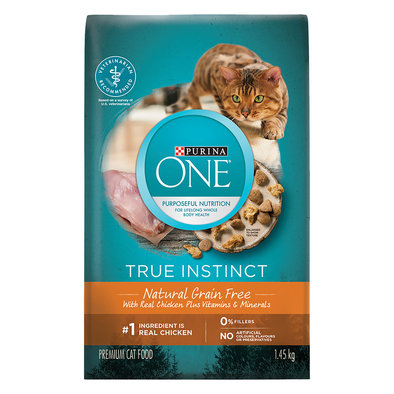 True Instinct Grain Free Natural Dry Cat Food, Real Chicken - 1.45 kg