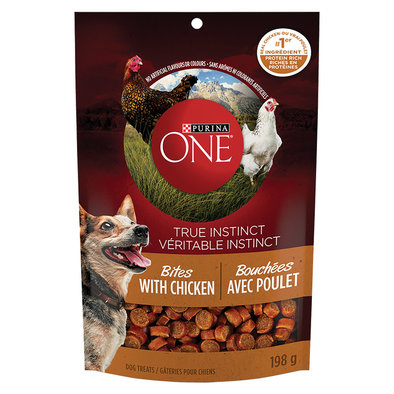 True Instinct Bites Natural Dog Treats, Chicken - 198 g