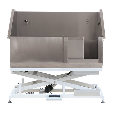 Stainless Steel Tub w/ Electric Lifting Base & Sliding Door