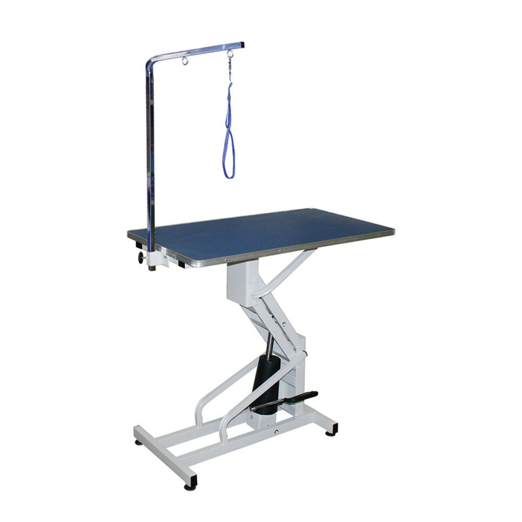 "View larger image of Hydraulic Table With Arm - 22-37"" High - 44x22"""