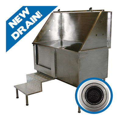 """Professional Grooming Tub With Steps - 48x28"""""""