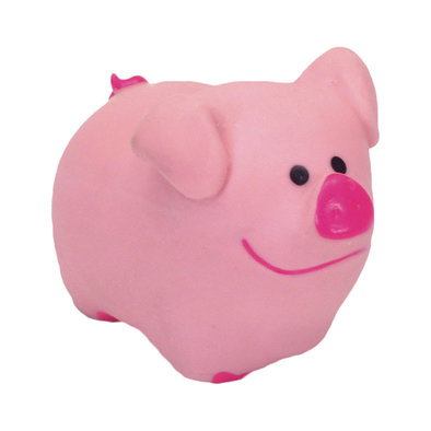 Dog Toy - Latex Pig - Pink - 2.75""