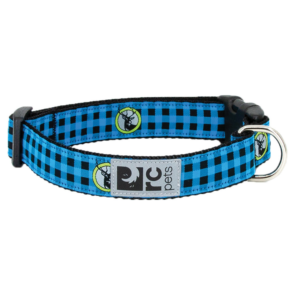 "View larger image of Clip Collar - Blue Buffalo Plaid - 1"" Width - Large"