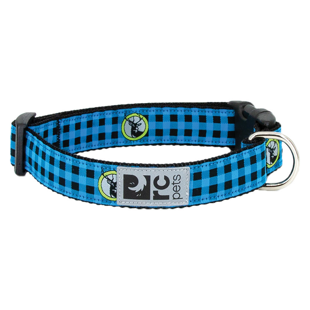 """View larger image of Clip Collar - Blue Buffalo Plaid - 3/4"""" Width - Small"""