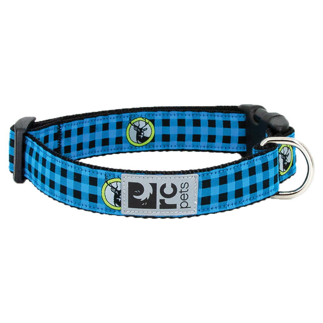 """View larger image of Clip Collar - Blue Buffalo Plaid - 5/8"""" Width - XS"""