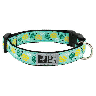 """Clip Collar - Pineapple Parade - 3/4"""" Width - Small"""