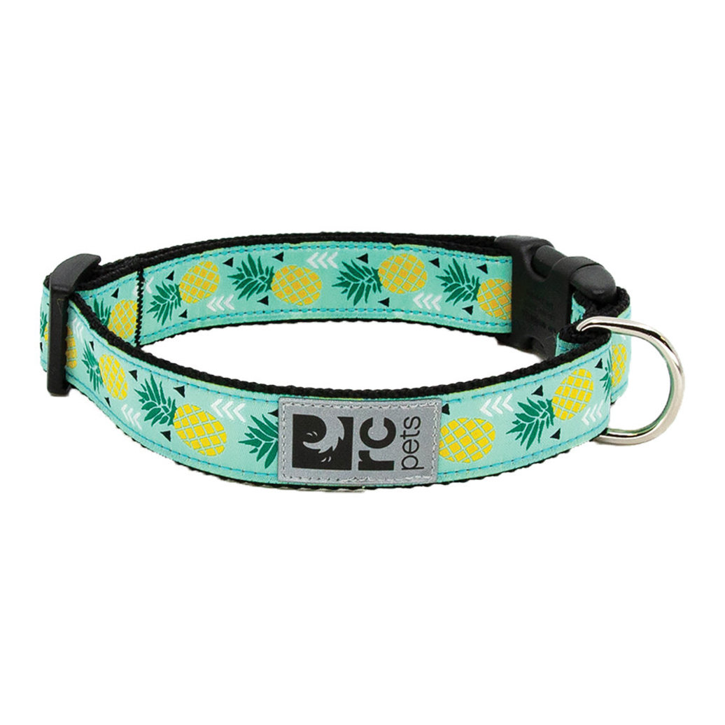 """View larger image of Clip Collar - Pineapple Parade - 5/8"""" Width - X-Small"""